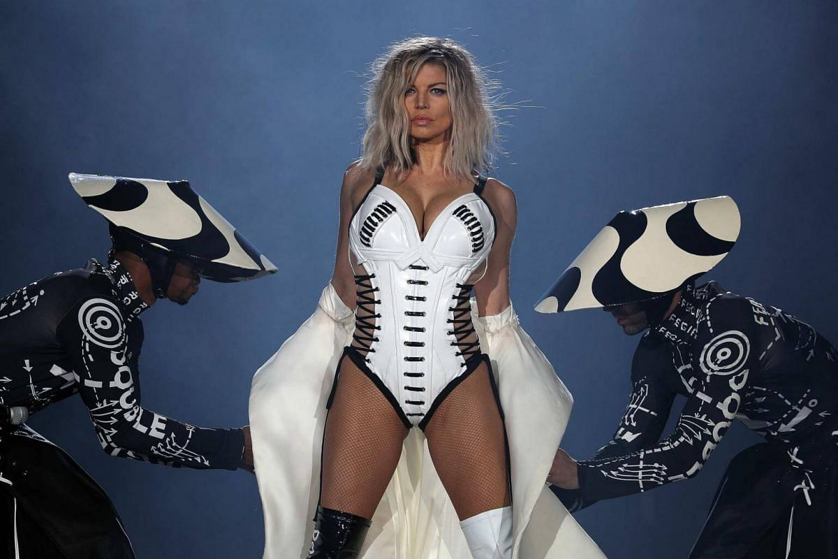 US singer Fergie performs on the World Stage during the second day of the Rock In Rio music festival in Rio de Janeiro, Brazil, on Sept 16, 2017.