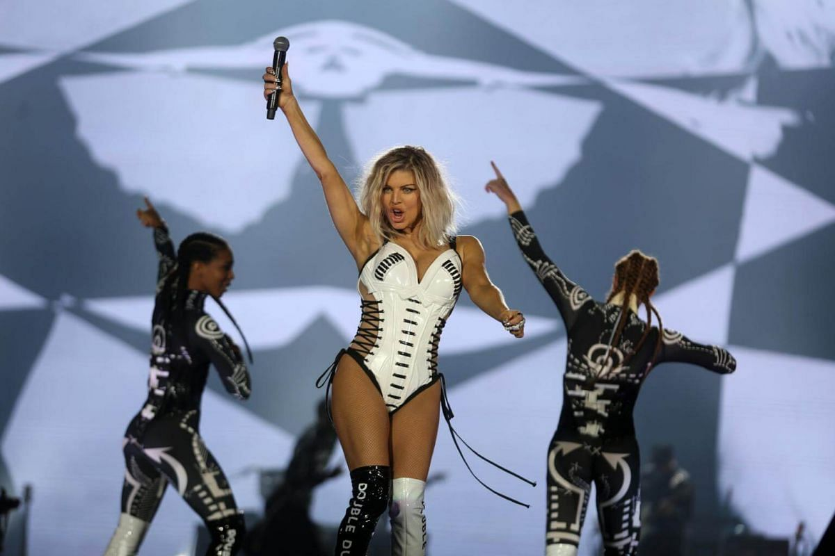 Singer Fergie performs during the Rock In Rio Music Festival in Rio de Janeiro, Brazil, on Sept 16, 2017.