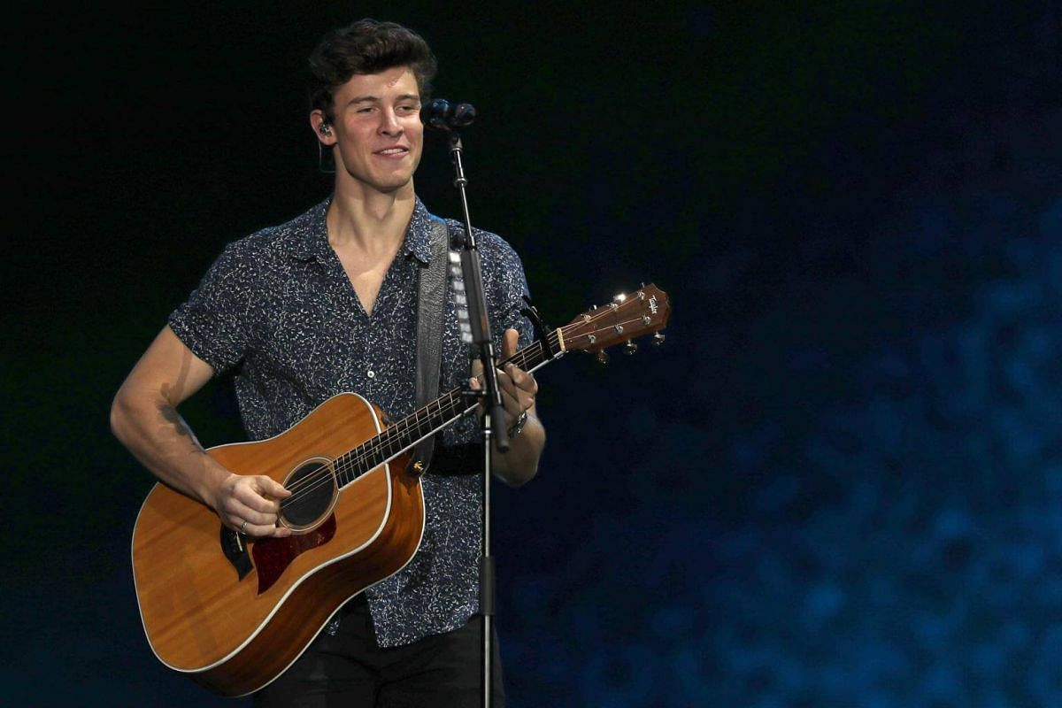Canadian singer Shawn Mendes performs on the World Stage during the second day of the Rock In Rio music festival in Rio de Janeiro, Brazil, on Sept 16, 2017.