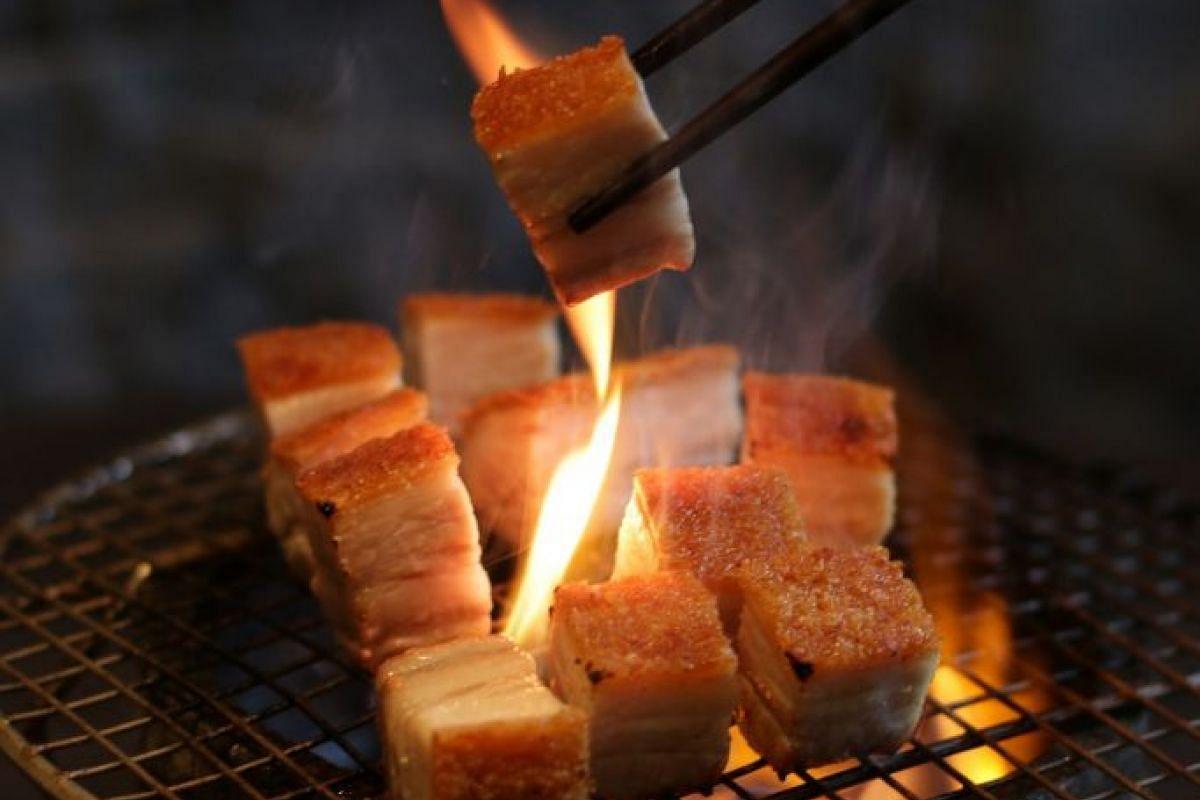 Crispy Flaming Pork.