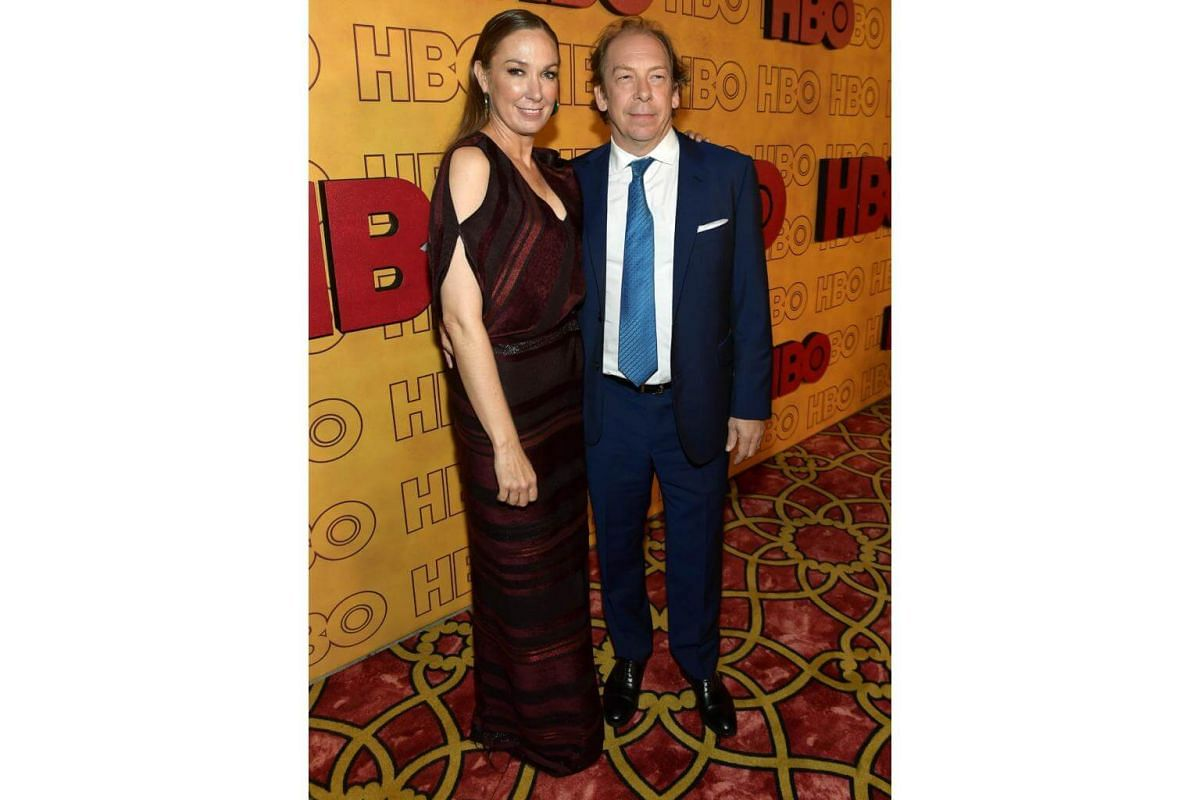 Elizabeth Marvel and Bill Camp attend HBO's Post Emmy Awards Reception at The Plaza at the Pacific Design Center in Los Angeles, on Sept 17, 2017.