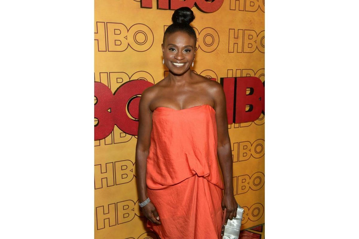 Adina Porter attends HBO's Post Emmy Awards Reception at The Plaza at the Pacific Design Center in Los Angeles, on Sept 17, 2017.