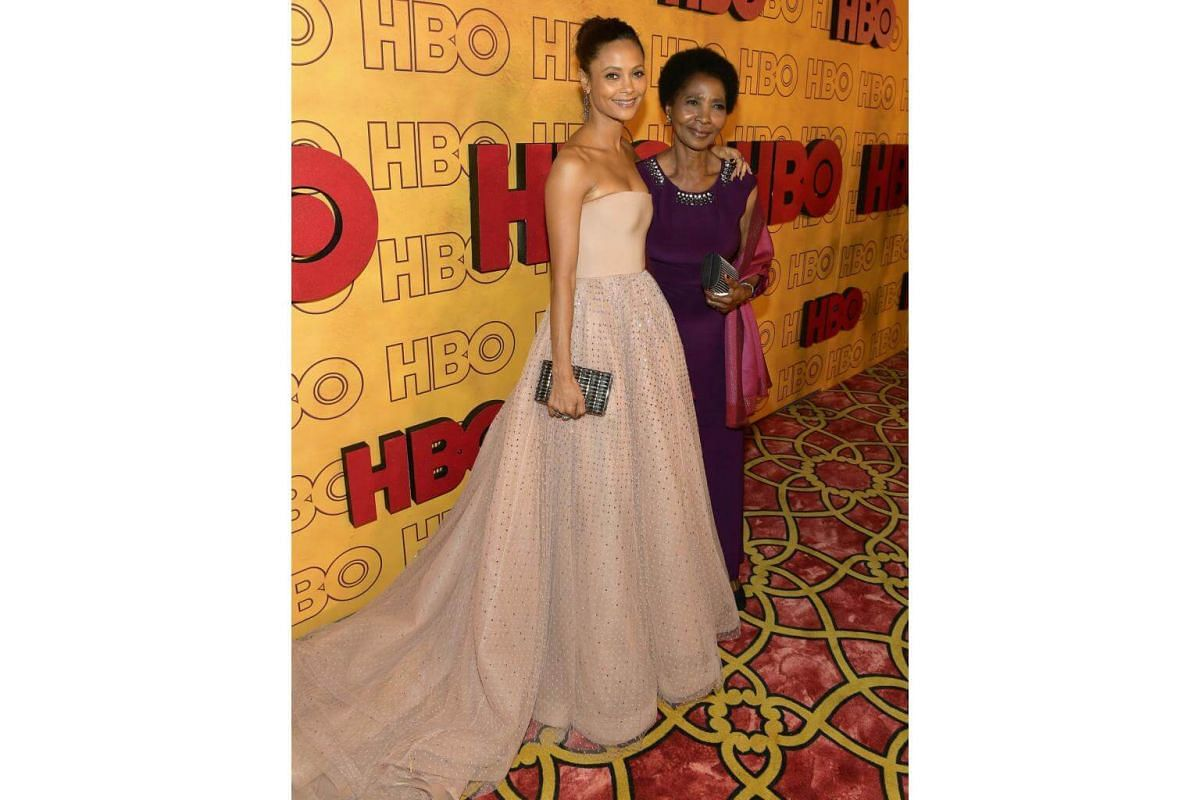 Thandie Newton (left) and Nyasha Newton attend HBO's Post Emmy Awards Reception at The Plaza at the Pacific Design Center in Los Angeles, on Sept 17, 2017.