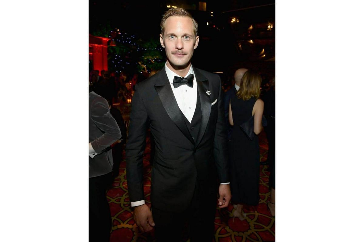 Alexander Skarsgard attends HBO's Post Emmy Awards Reception at The Plaza at the Pacific Design Center in Los Angeles, on Sept 17, 2017.