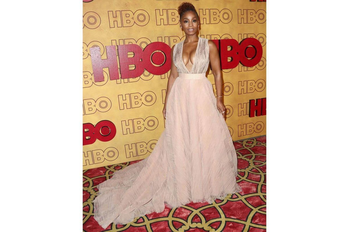 Anika Noni Rose attends HBO's Post Emmy Awards Reception at The Plaza at the Pacific Design Center in Los Angeles, on Sept 17, 2017.