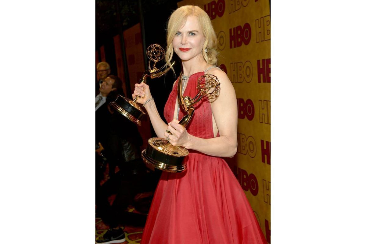 Nicole Kidman attends HBO's Post Emmy Awards Reception at The Plaza at the Pacific Design Center in Los Angeles, on Sept 17, 2017.