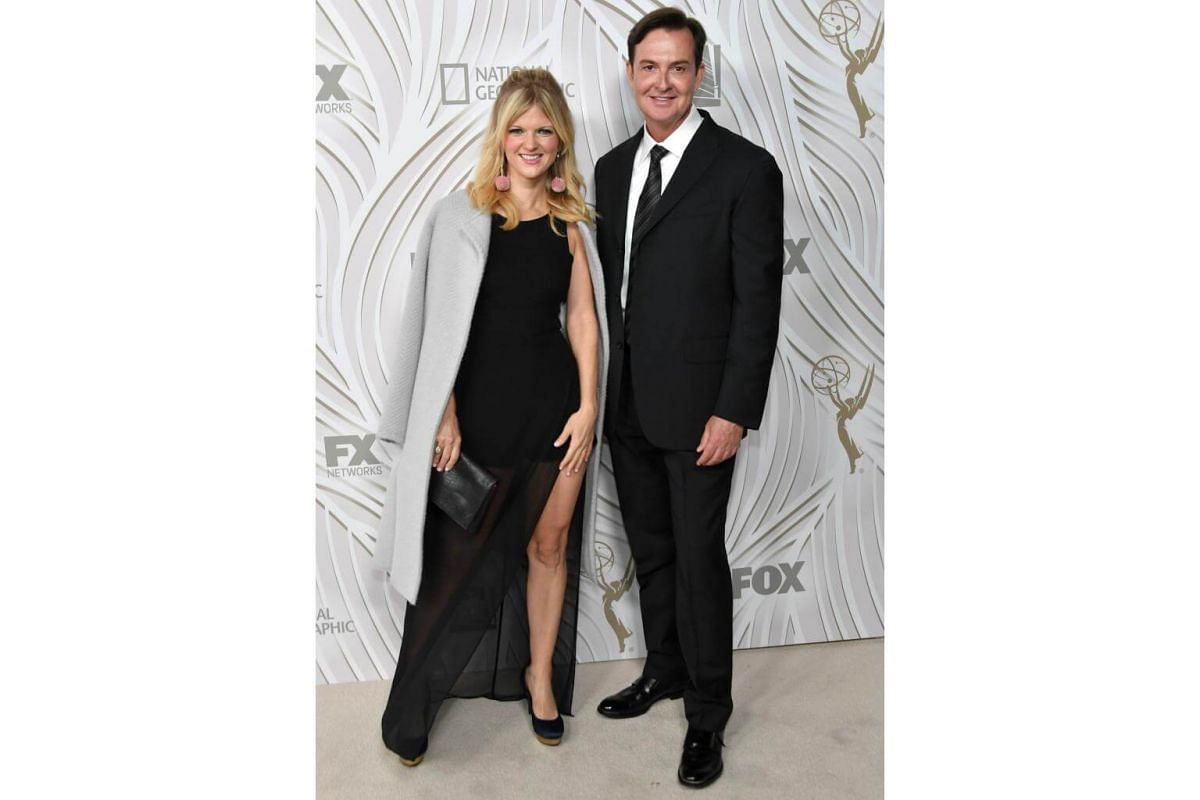 Actors Arden Myrin (left) and David Williams attends the 69th Primetime Emmy Awards After Party at Vibiana in Los Angeles, on Sept 17, 2017.