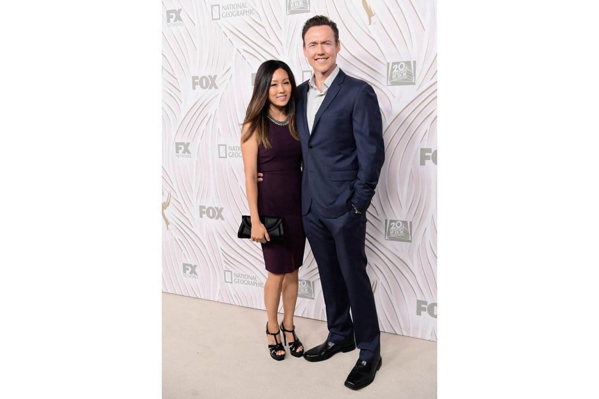 Actor Kevin Durand and Sandara Cho attends the 69th Primetime Emmy Awards After Party at Vibiana in Los Angeles, on Sept 17, 2017.