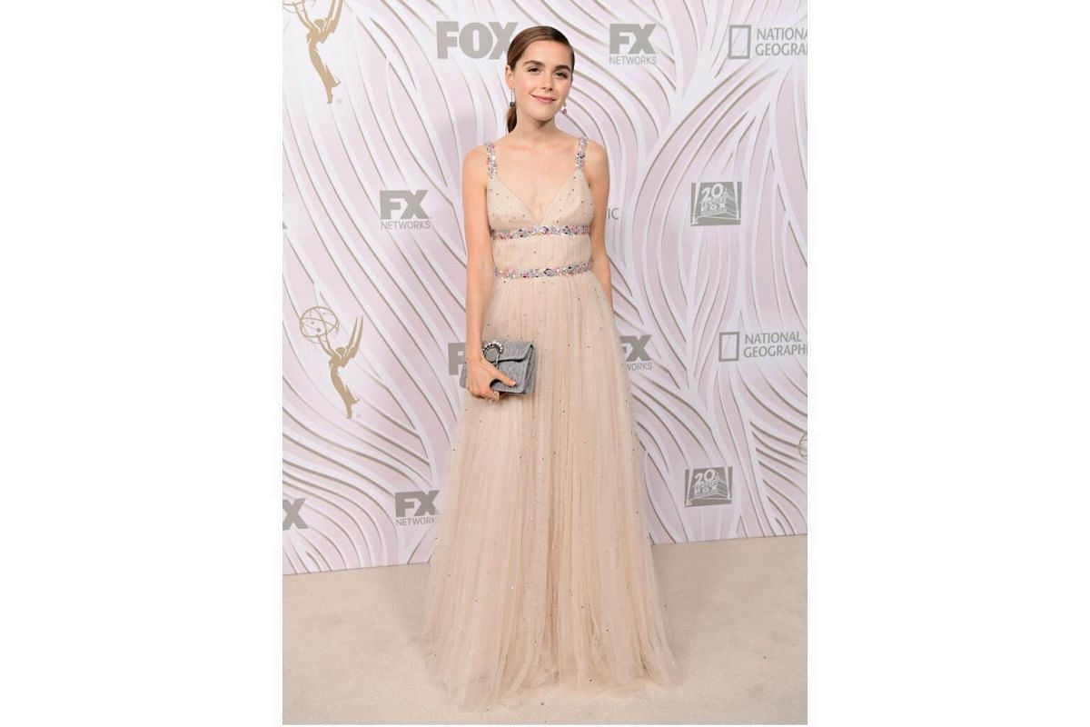 Kiernan Shipka attends the 69th Primetime Emmy Awards After Party at Vibiana in Los Angeles, on Sept 17, 2017.