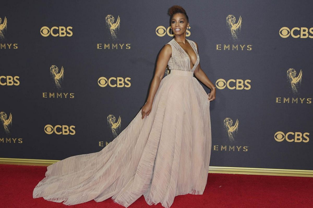 Broadway actress Anika Noni Rose at the 69th Primetime Emmy Awards in Los Angeles, California, on Sept 17, 2017.