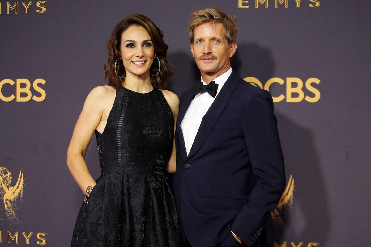 House Of Cards' Paul Sparks and his wife Annie Parisse at the 69th Primetime Emmy Awards in Los Angeles, California, on Sept 17, 2017.