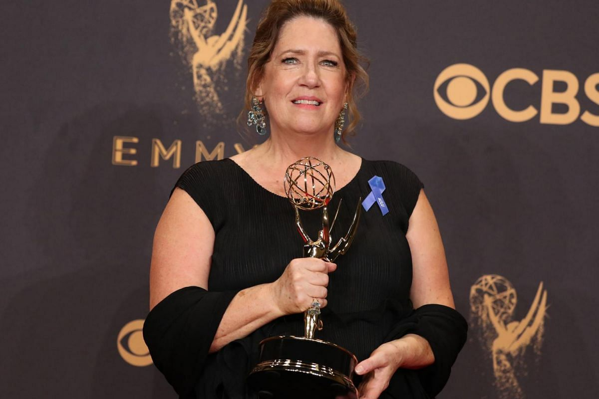 Ann Dowd accepts the award for Outstanding Supporting Actress in a Drama Series for The Handmaid's Tale.