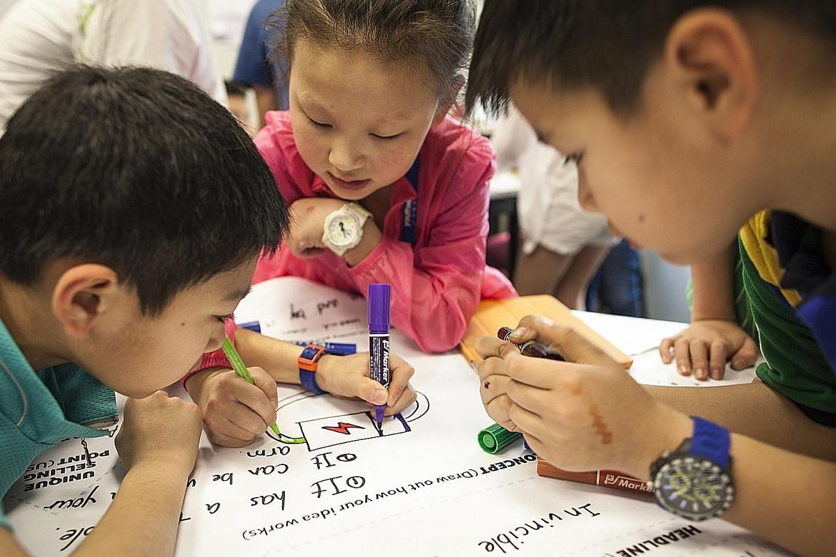 In Singapore, companies with design-related workshops for children include Thinkroom (above), Happiness Makers and As Many Minds.