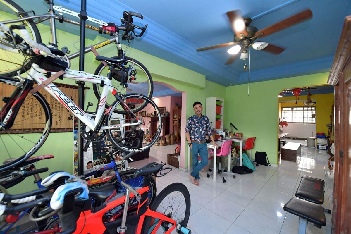 Mr Heman Tan lives with his wife, three children and mother in a 1,900 sq ft flat in Woodlands.