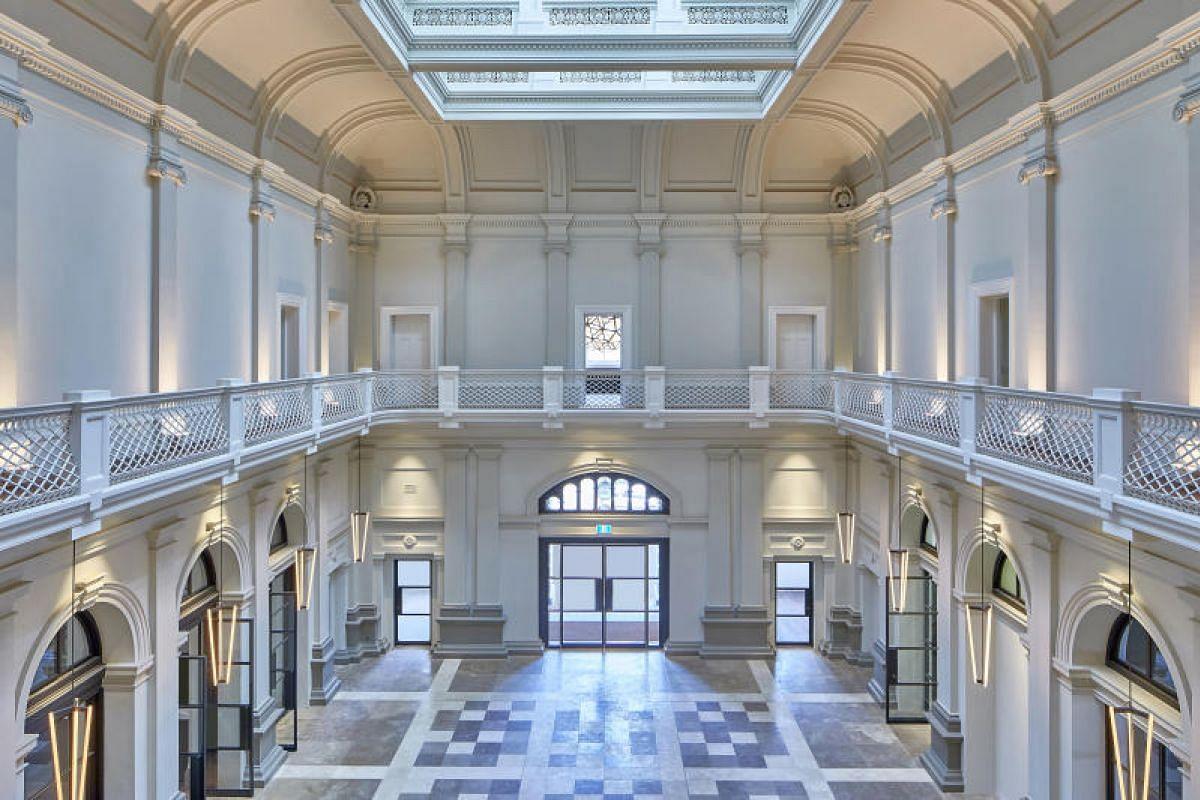 The Postal Hall of the Treasury Building, home to Perth's Como The Treasury hotel.