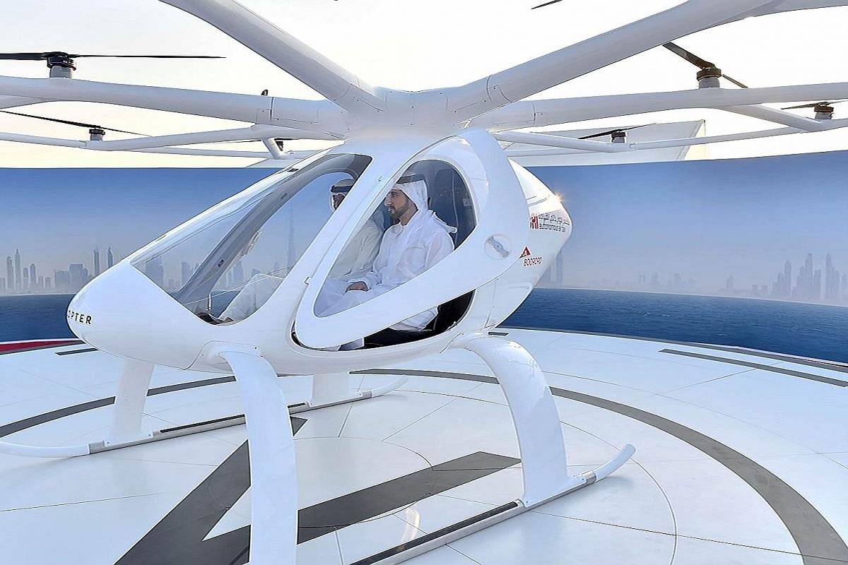 It was unmanned and without passengers for its maiden test run in a ceremony arranged for Dubai Crown Prince Sheikh Mohammed bin Rashid Al Maktoum (above, at right).