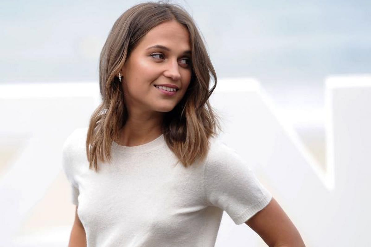 Swedish actress and cast member Alicia Vikander poses during the photocall for Submergence.