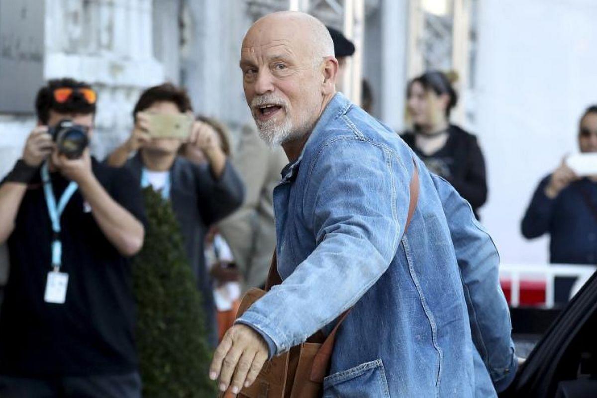 Jury member and actor John Malkovich arrives at the 65th annual San Sebastian International Film Festival.
