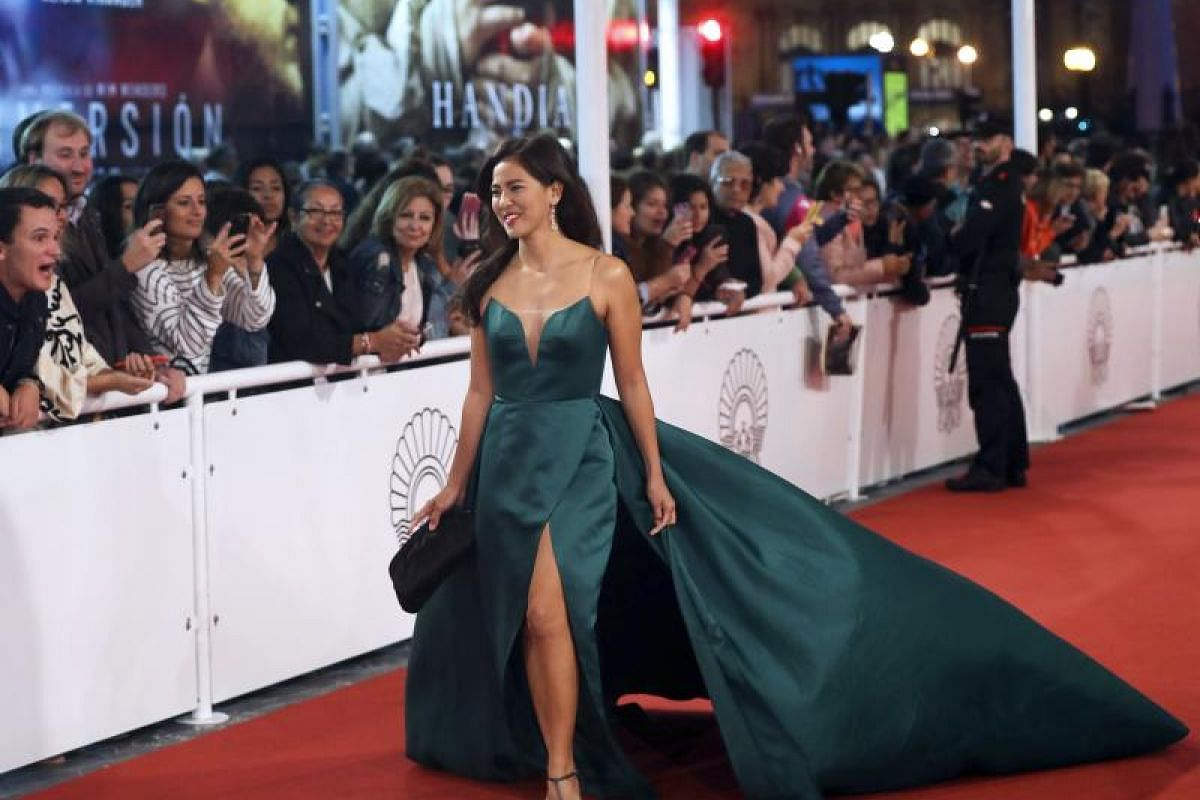 US actress Mara Lopez arrives for the festival's opening gala.