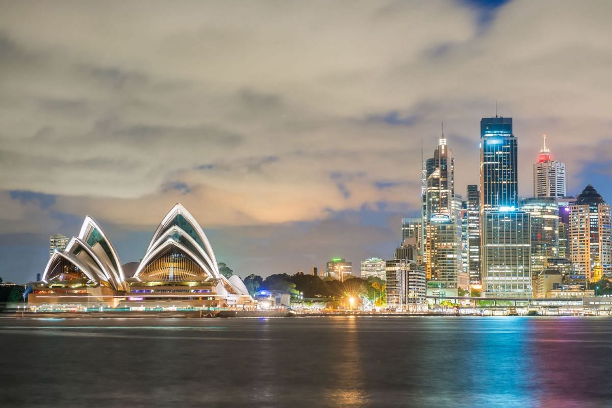The Sydney Opera House (left) and buildings in the city's central business district make up the beautiful Sydney skyline.