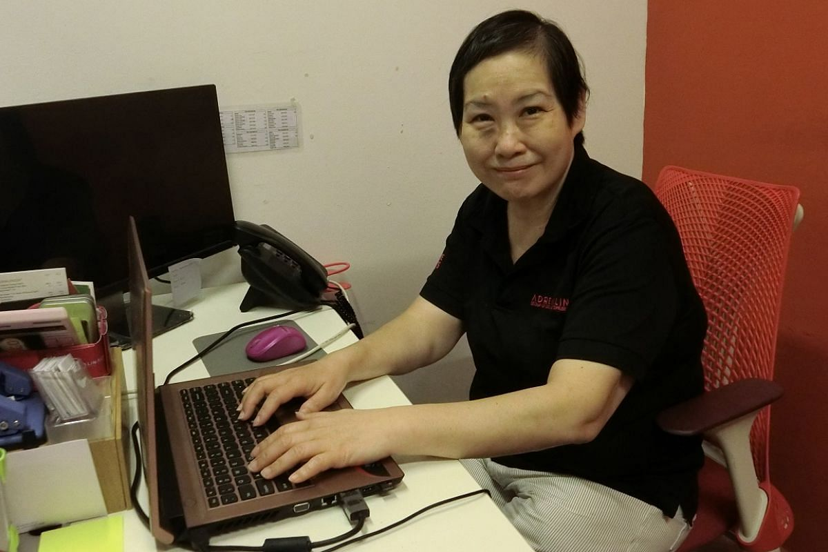 After an eight-month job search, Ms Jane Chua, who has mobility issues, found a job as a personal assistant and administrator at events agency Adrenalin Group.