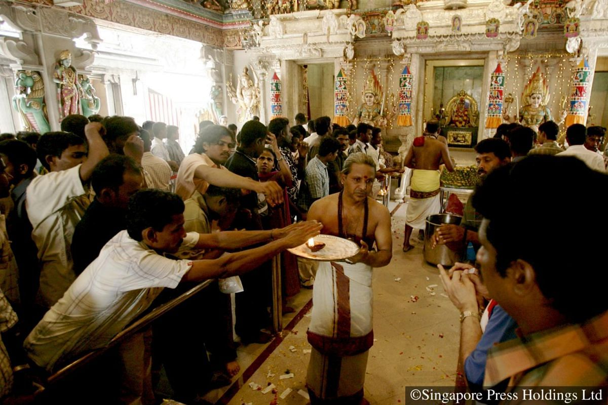 2007: The temple visit comes next after the morning rituals at home.