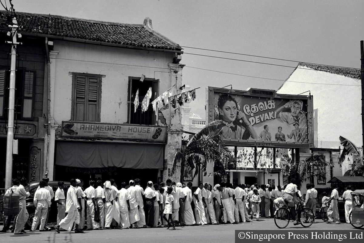 1951: A long queue to catch a popular Tamil movie in the midst of Deepavali celebrations.