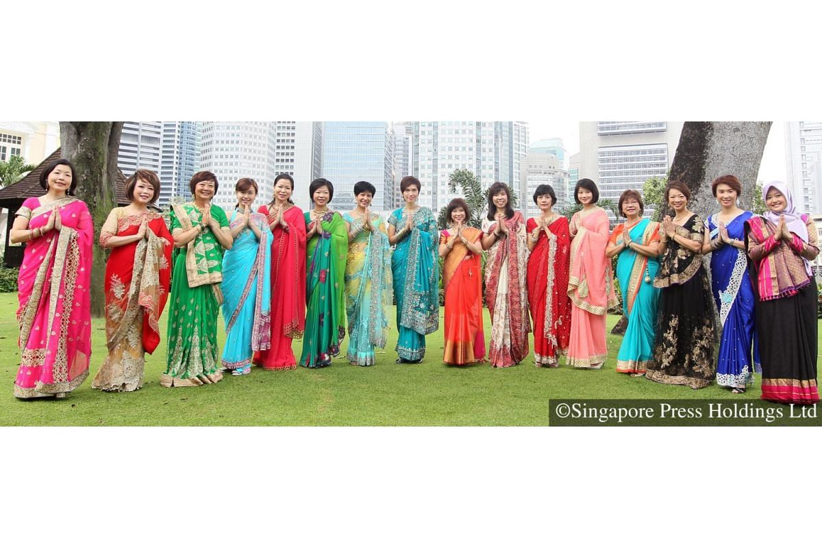 2016: Women members of Parliament ditched their regular power suit and outfits-for sarees to celebrate Deepavali.