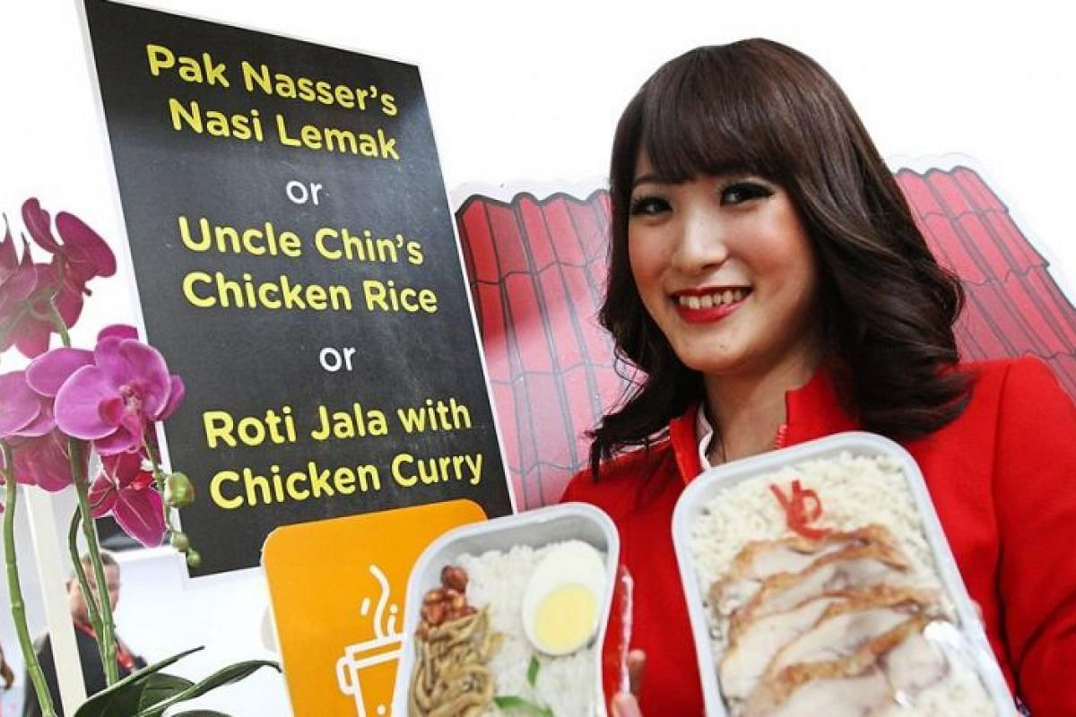 Some of the meals on the Santan menu onboard include Pak Nasser's nasi lemak and Uncle Chin's chicken rice.
