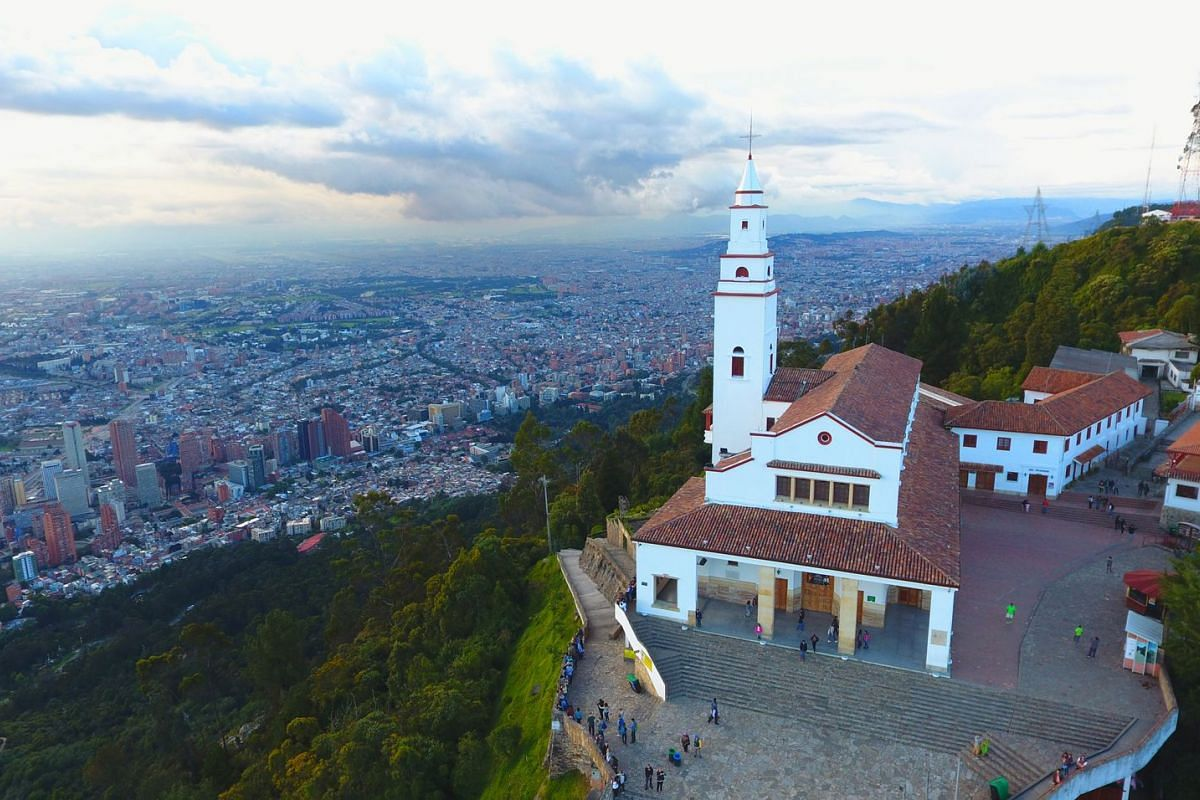 The view from the Monserrate summit, Colombia.