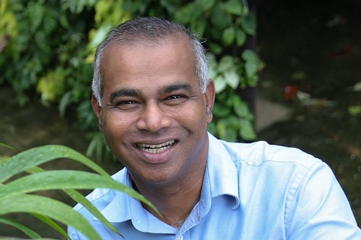Mr Veera Sekaran (above) of Greenology has created a network of sensors that can wirelessly send information about the environment to a mobile or tablet device.