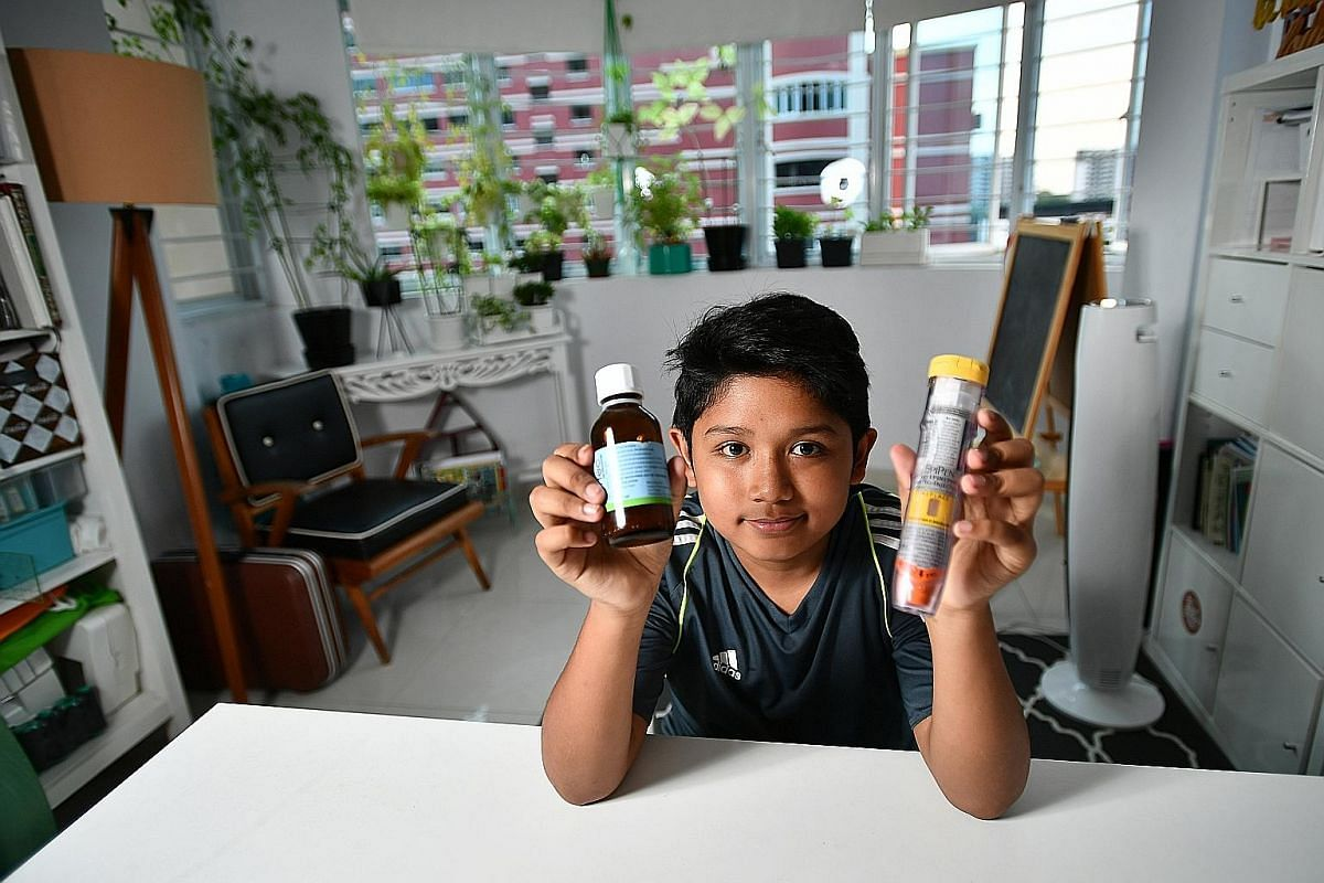 Ms Amanda Chan prepares food that is safe for Corey to consume even when they eat out. At the age of six months, he was diagnosed as being allergic to peanuts, eggs, milk and shellfish, as well as products containing any of these items. Mohammad Zain