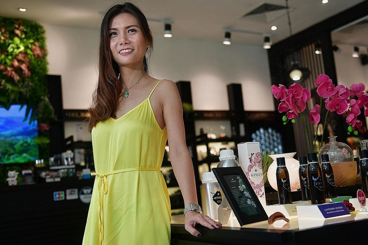 Mother-of-four Cheryl Gan (above) plans to take her Hysses aromatherapy business to London and eventually Europe.