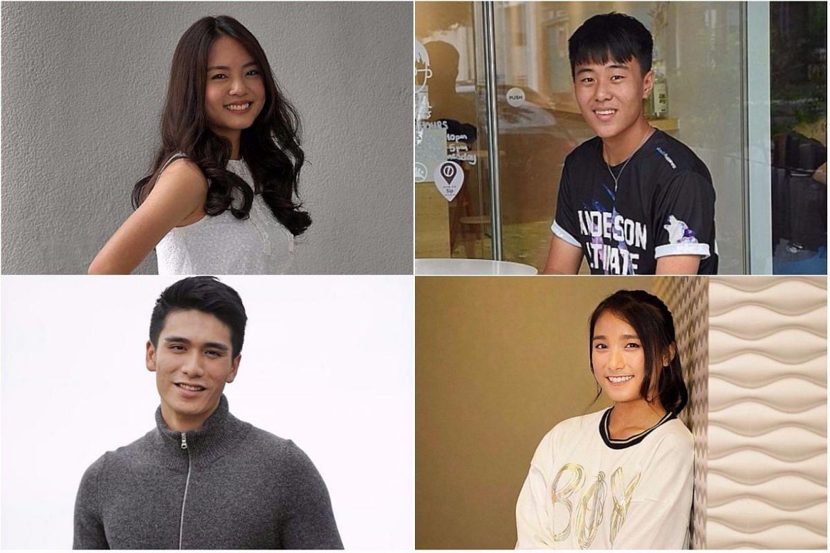 (Clockwise from top left) Chantalle Ng, Marcus Guo, Shalynn Tsai and Joel Choo.