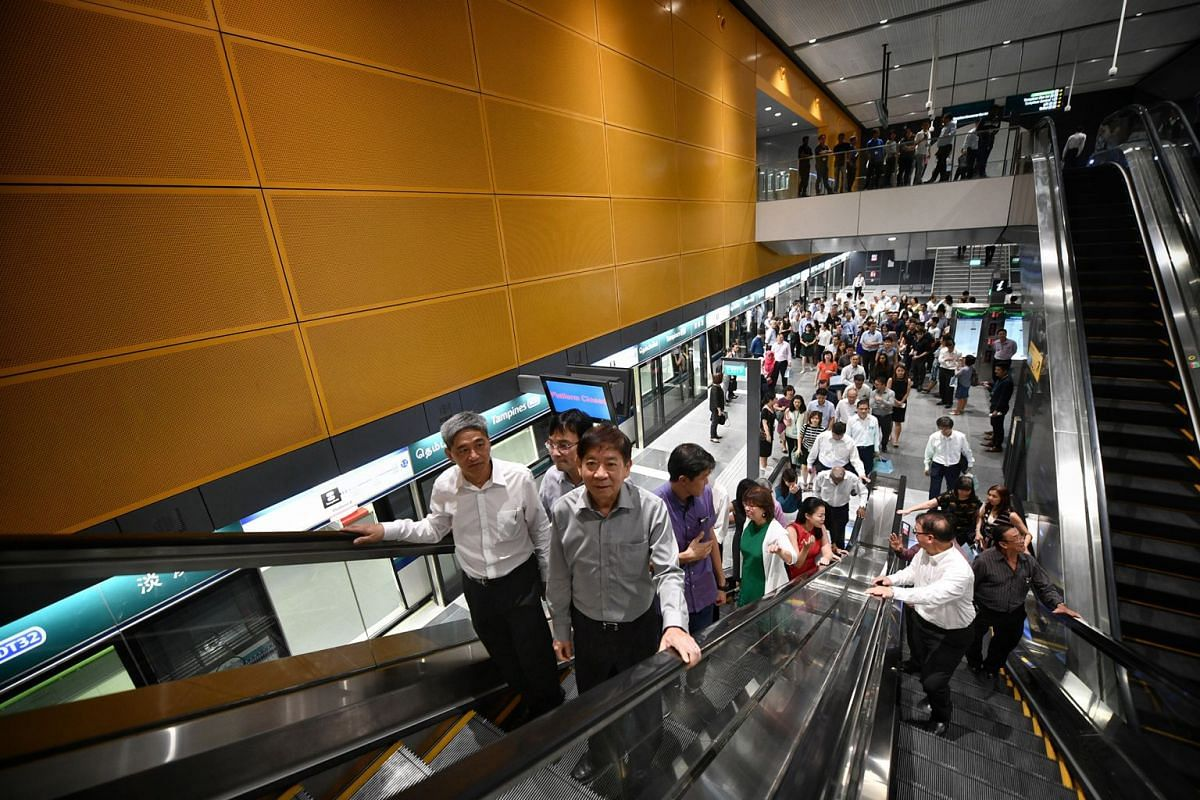 Official opening of Downtown Line 3 by Minister for Transport Khaw Boon Wan.
