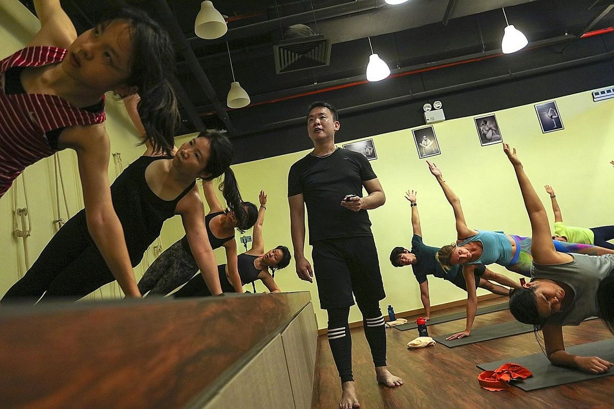 At E's Fitness, 30-minute Hiit workouts include exercises such as burpees and push-ups. At the four-hands collaboration at Iggy's, dishes include Spanish chef Jose Luis Gonzalez's Mole, made with beef tongue, peas and citrus.