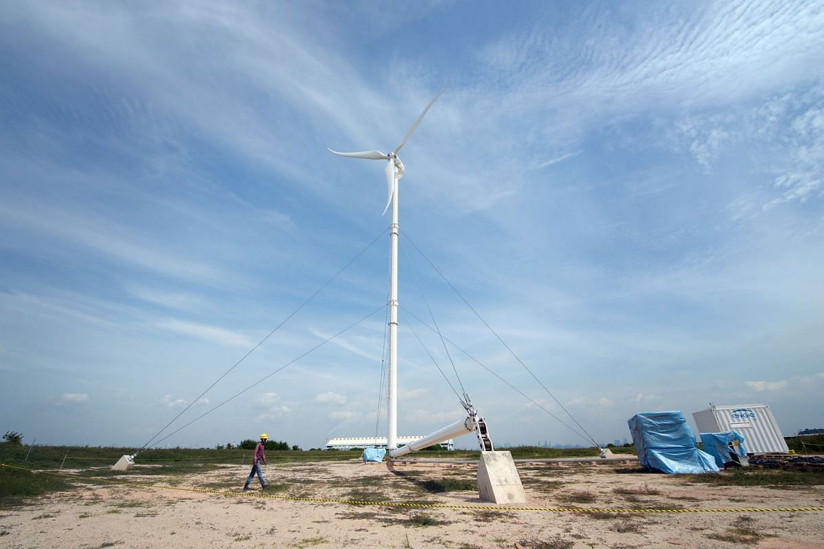 Nanyang Technological University, Singapore will be hoisting up Singapore's first 38-metre tall, wind turbine on Semakau Island this Friday (Oct 20), which will be part of the region's first offshore microgrid.