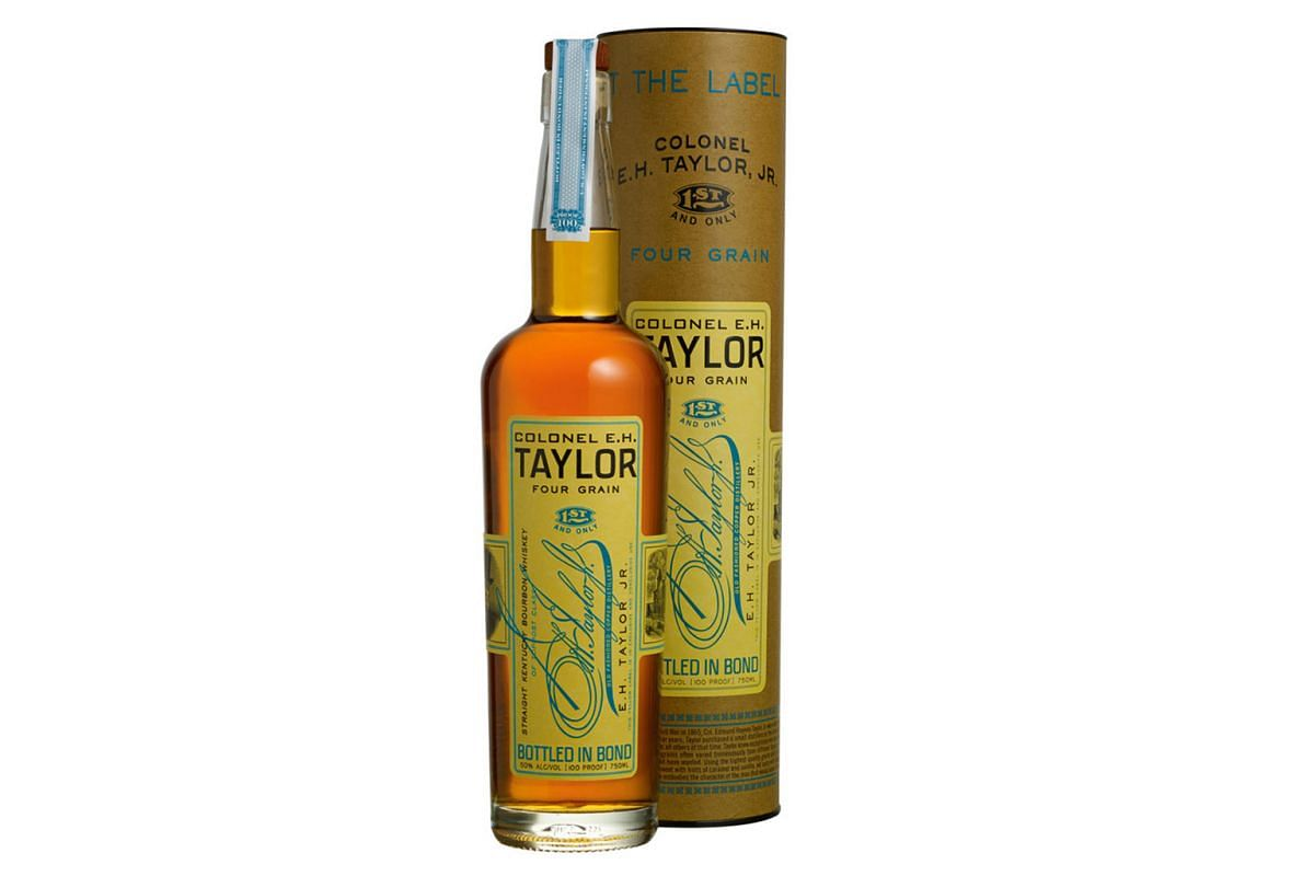 Colonel E.H. Taylor 4 Grain Bottled In Bond Aged 12 Years (above) is produced in Buffalo Trace Distillery in Kentucky in the United States.