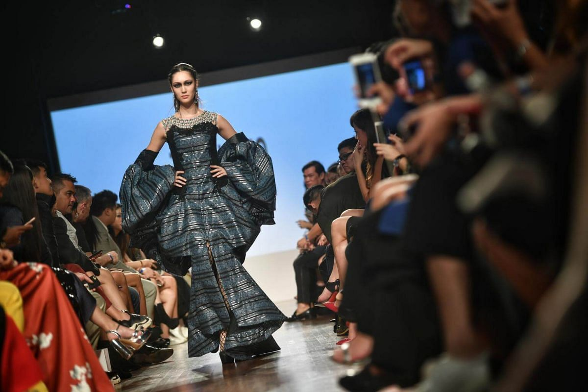 Zin Kato's collection during the Asia Fashion Designers Showcase on the second day of Singapore Fashion Week on Oct 27, 2017.
