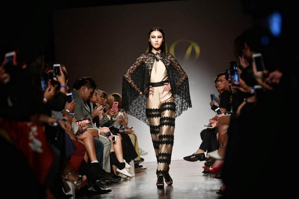 Mimi Parrel-Pimentel's collection during the Asia Fashion Designers Showcase on the second day of Singapore Fashion Week 2017.