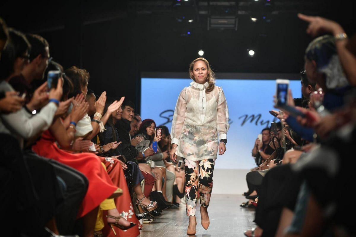 Designer Steffy de Mylo, during the Asia Fashion Designers Showcase on the second day of Singapore Fashion Week 2017.