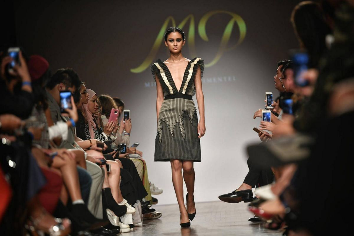Mimi Parrel-Pimentel's collection during the Asia Fashion Designers Showcase on the second day of Singapore Fashion Week on Oct 27, 2017.