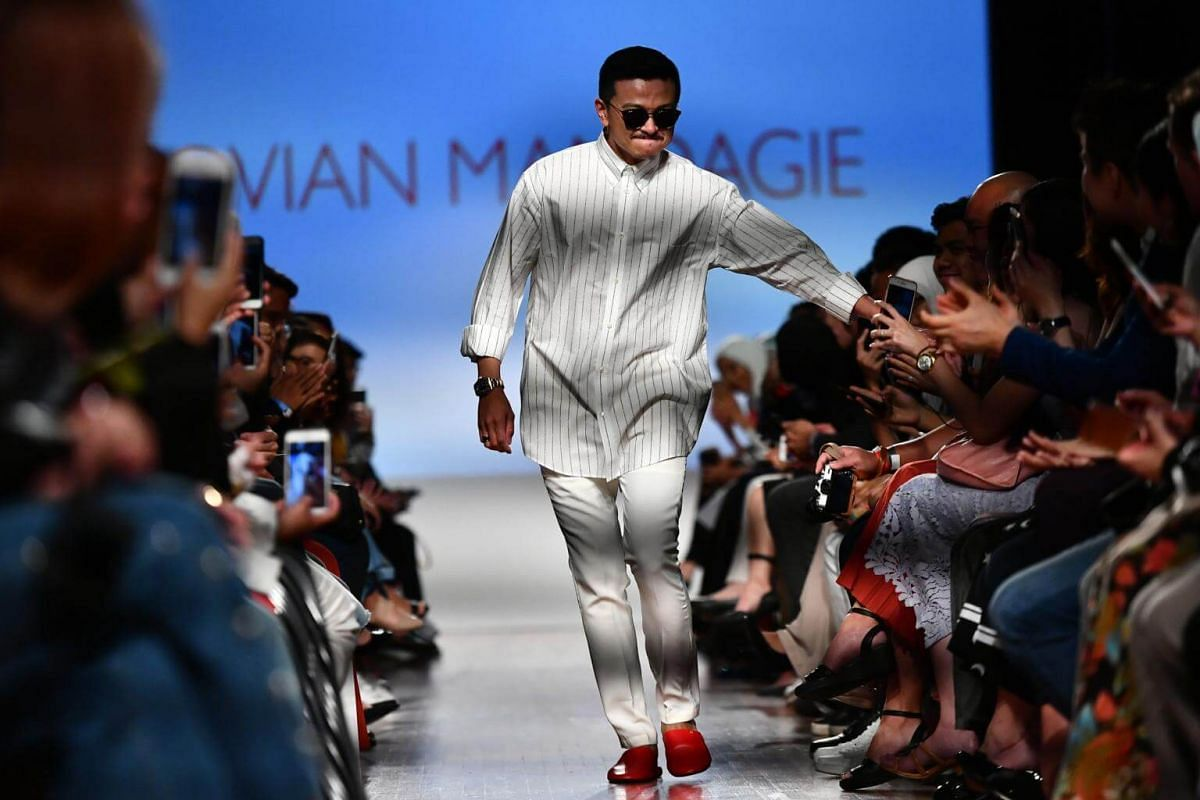 MODESTyle Fashion Showcase 3 featuring Malaysia's Jovian Mandagie, at National Gallery Singapore on Oct 28, 2017.