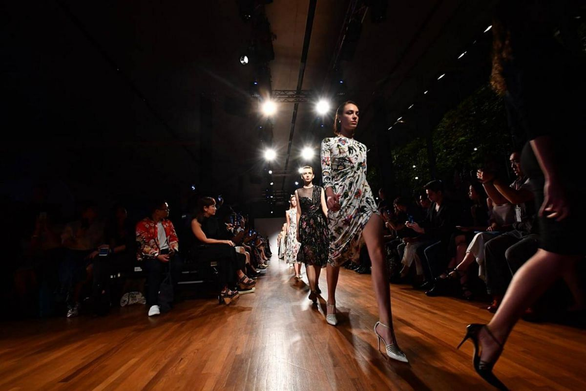 Presentation of the Spring 2018 Collection by Jason Wu, at National Gallery Singapore on Oct 28, 2017.