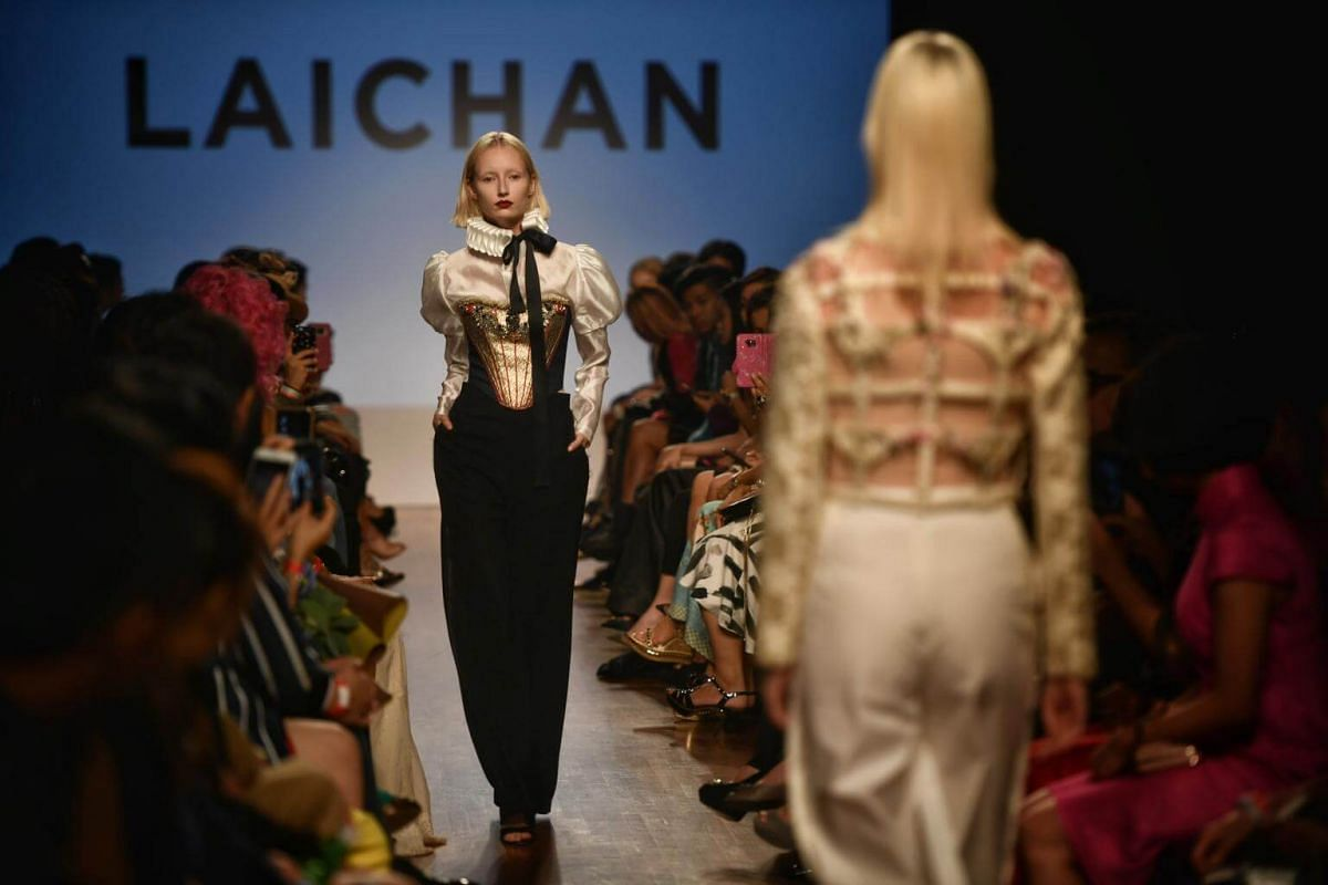 Local designer Goh Lai Chan's collection at the opening of Singapore Fashion Week 2017 on Oct 26, 2017.