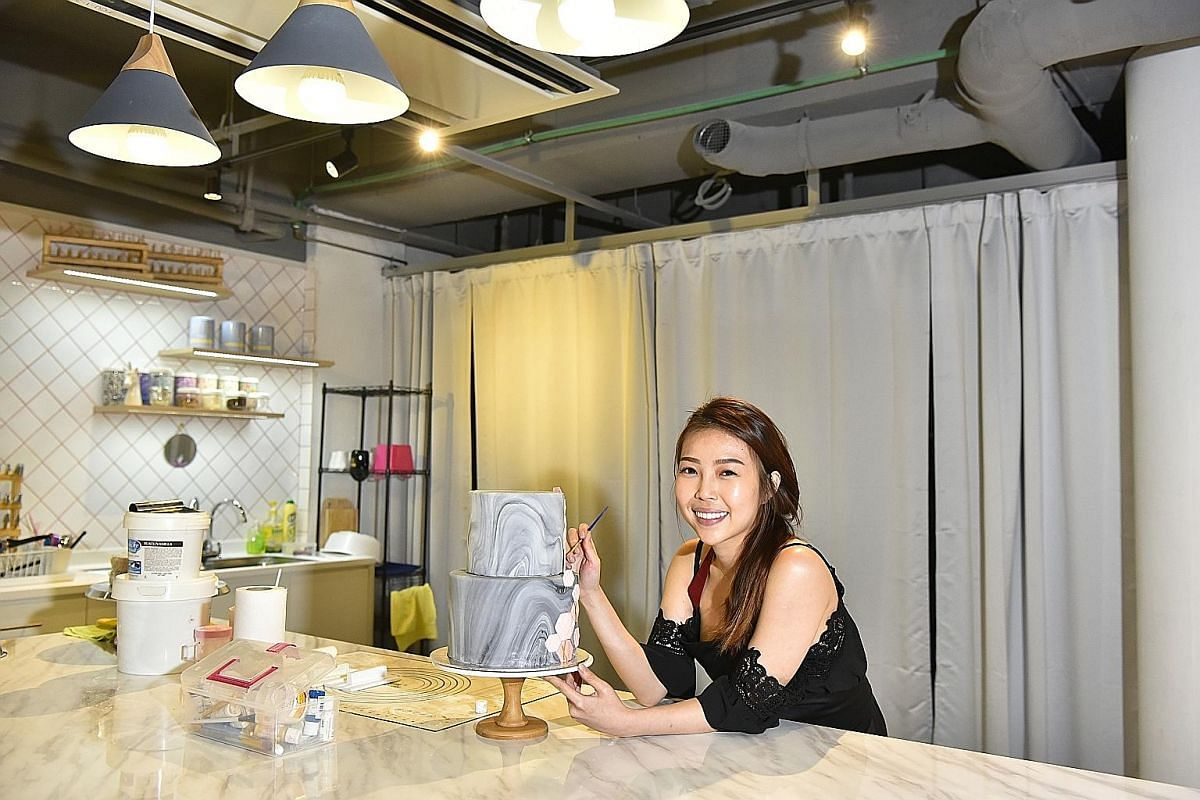 Baker and cake-decorator Heidi Tay has a studio at Mox, where she sells cakes and holds baking workshops. Monthly rentals for spaces start at $295.