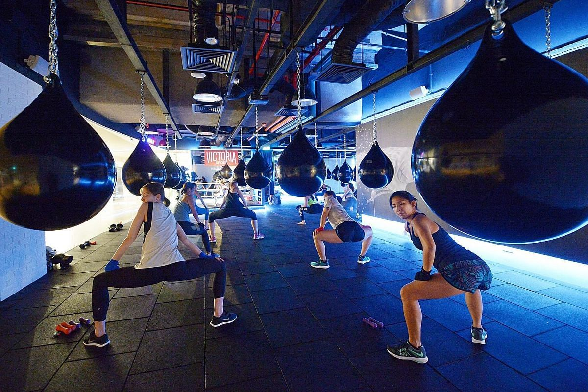 The 3,200 sq ft space at GuavaLabs at OUE Downtown has yoga, barre and mixed-use studios that can be rented by freelancers. It is also home to Singapore's first aqua bag boxing studio.