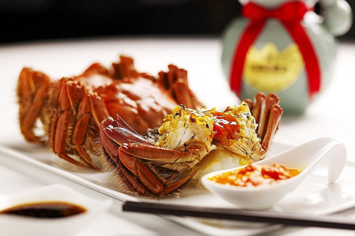 Min Jiang at Goodwood Park Hotel and Min Jiang at One-North are among the restaurants getting hairy crabs from the Netherlands this year.