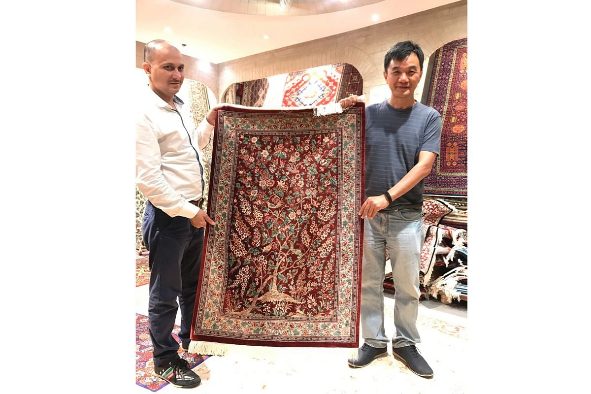 Sunday Times journalist Goh Eng Yeow could not get enough of carpets in Isfahan and bought a second one during his stopover in Dubai.