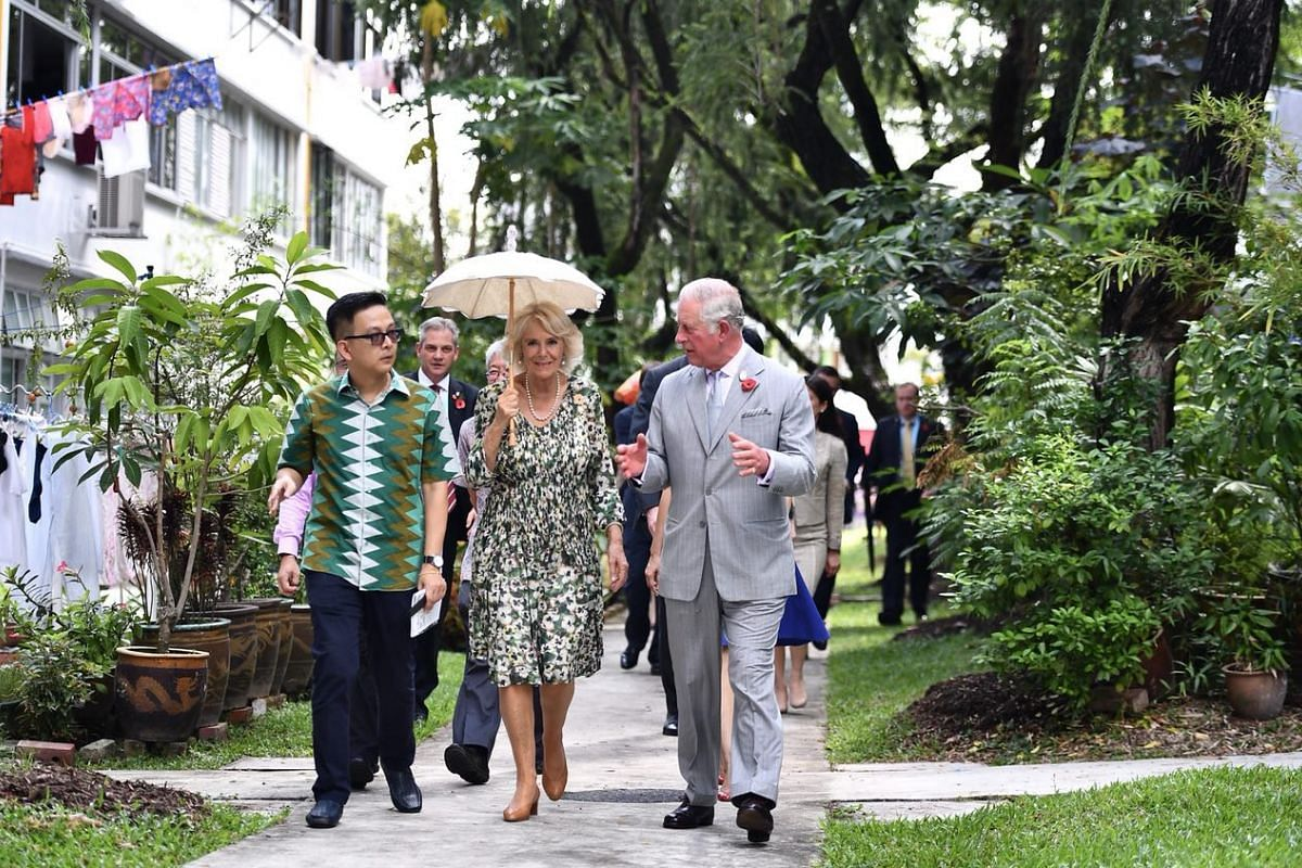 Britain's Prince Charles and wife Camilla, the Duchess of Cornwall, toured Singapore's Tiong Bahru estate on Wednesday morning, Nov 1, 2017. The Prince and his wife began their Commonwealth tour on Monday in Singapore. They will also visit Malaysia a